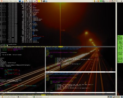 darkenergy running split vim and screen sessions